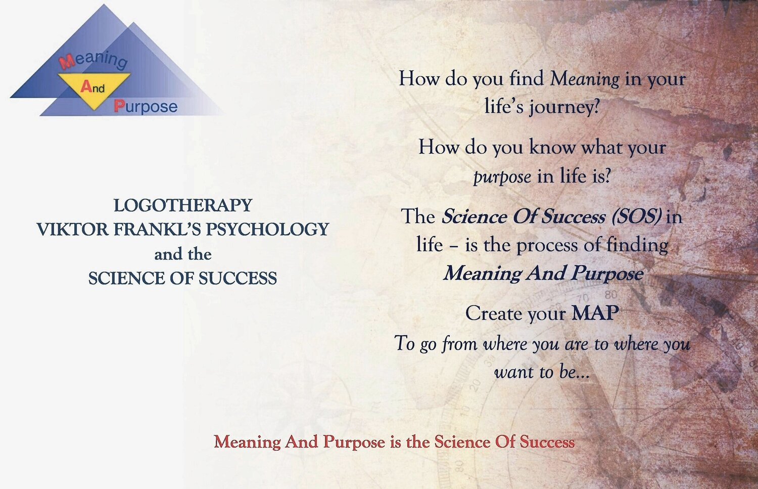 MAP: Logotherpy: Viktor Frankl's Psychology