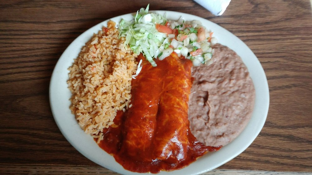 Regular enchiladas - with beef