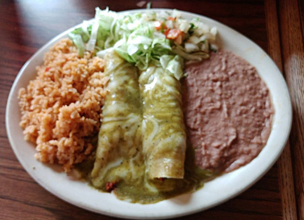Verde enchiladas - with chicken