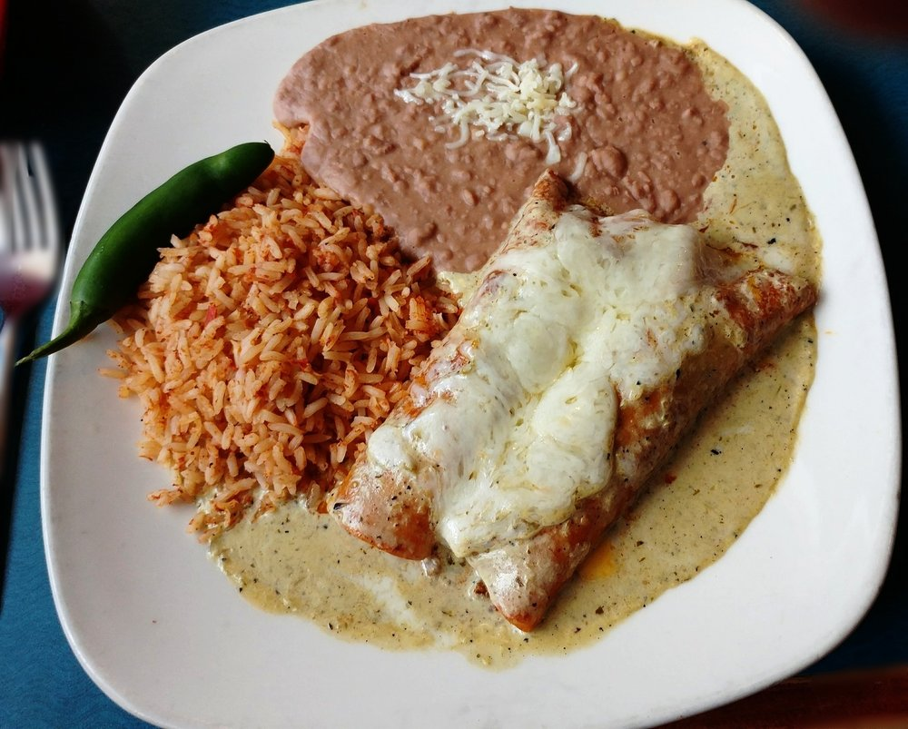 Beef Enchiladas - with Suiza Sauce