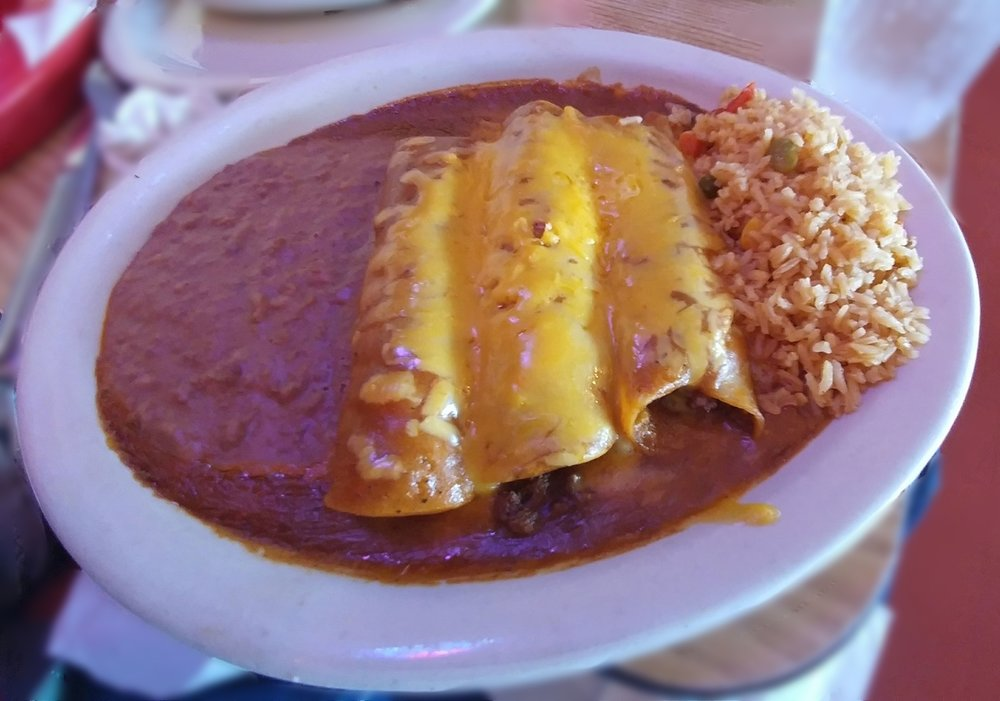 Beef Enchiladas - with Chili Con Carne
