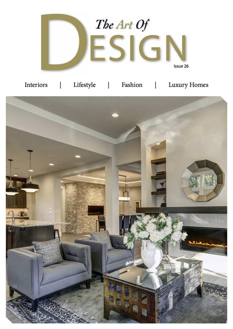 Featured In The Art Of Design Magazine Art Meets Interior Design