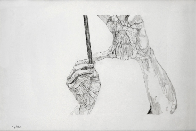 BLACK AND WHITE RULE - DRAWING2011 Mechanical Pencil on paper. dimensions: 42*59.4 cm. Exhibited at Camera Obscura, Natalie Seroussi gallery.
