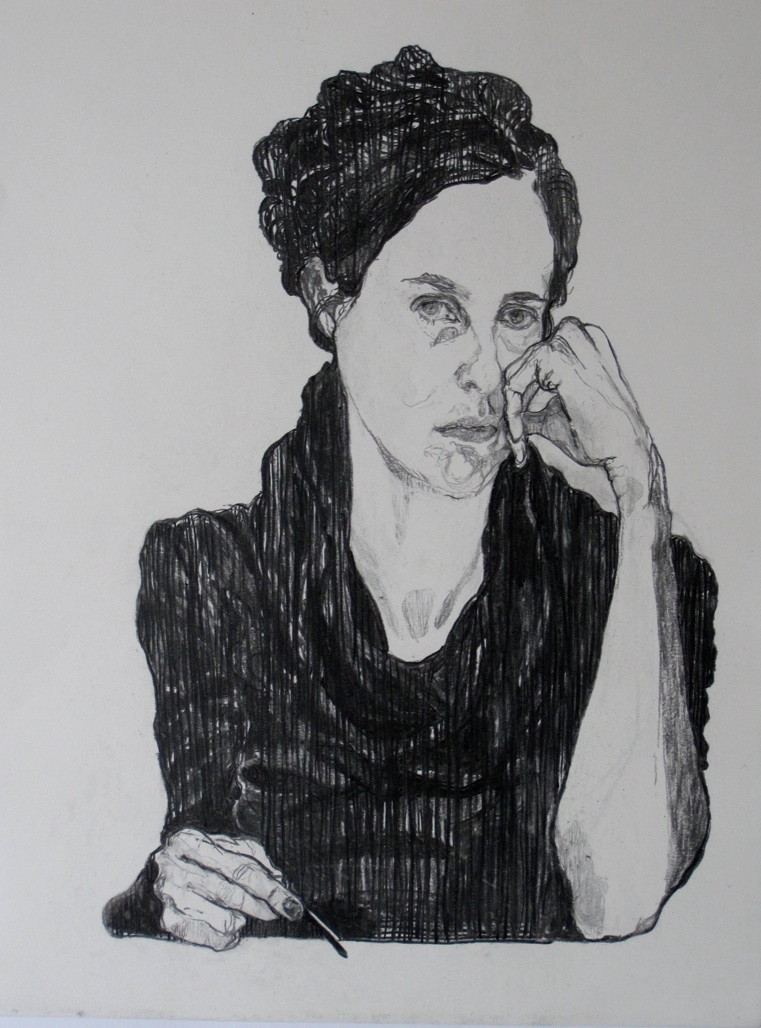 SELF PORTRAIT 2011 Charcoal on paper. dimensions: 59.4*42 cm. private collection.