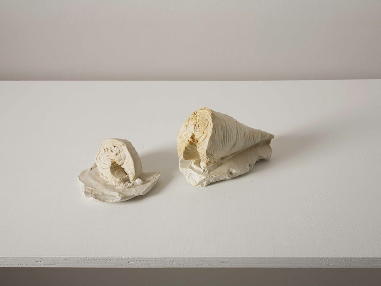 Concrete and Cement - Still Life (fish). plaster and pigment, dimensions: around 5*5*30 cm.