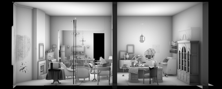 Living Room 1 (2D version) |  3D visualizations: Omer Breiner