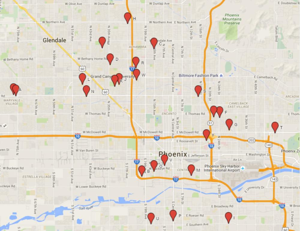 phoenix schools map