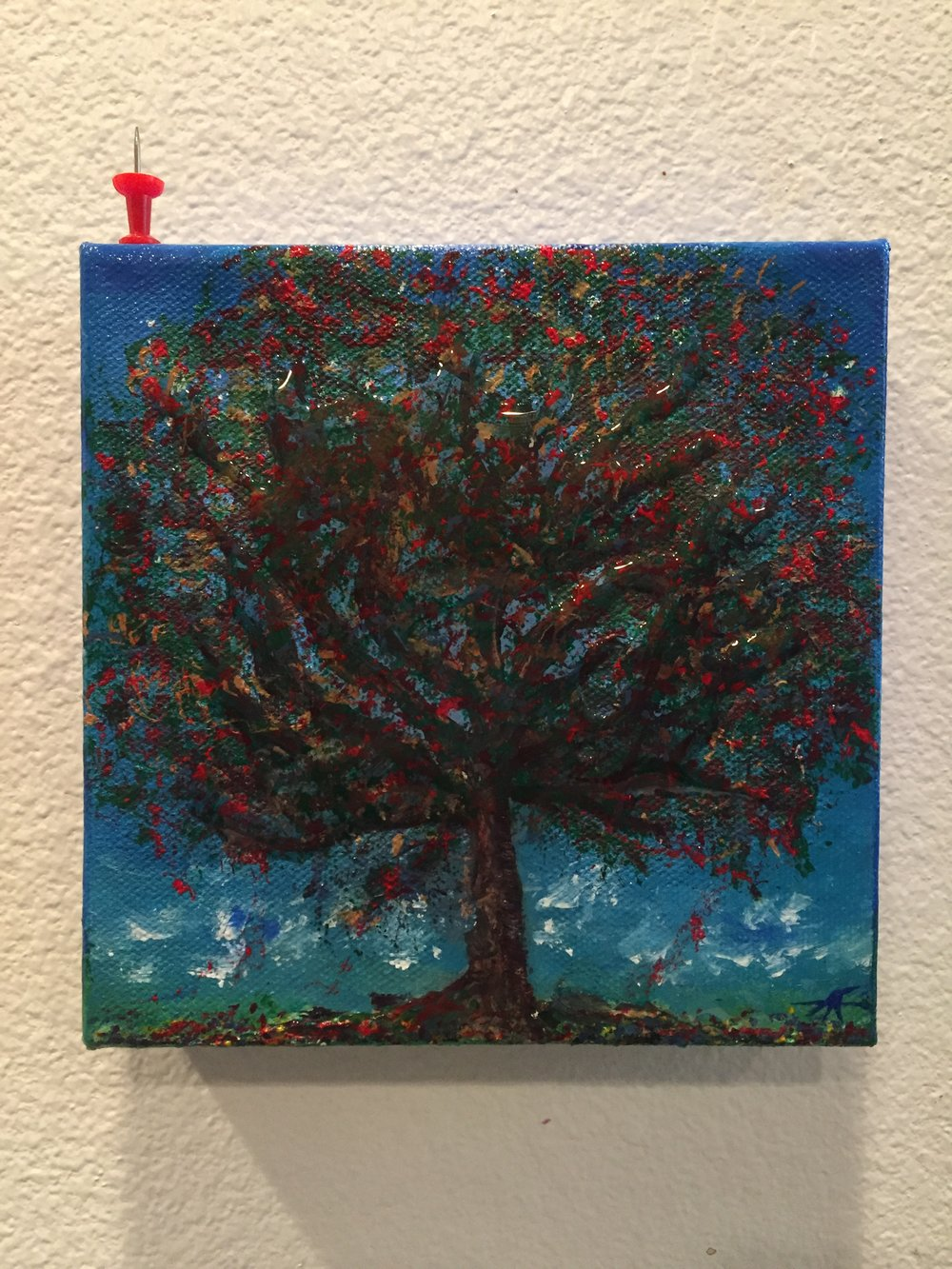 "TREE OF LIFE 2019 (6"" X 6"" RESIN ENHANCED)"