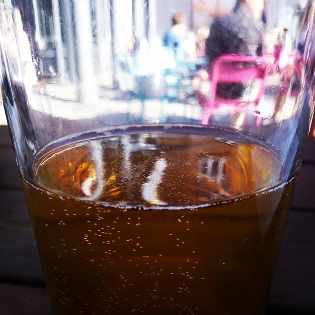 Obligatory sunshine pint picture #bournemouth #weekend #beer #sunshine #etc