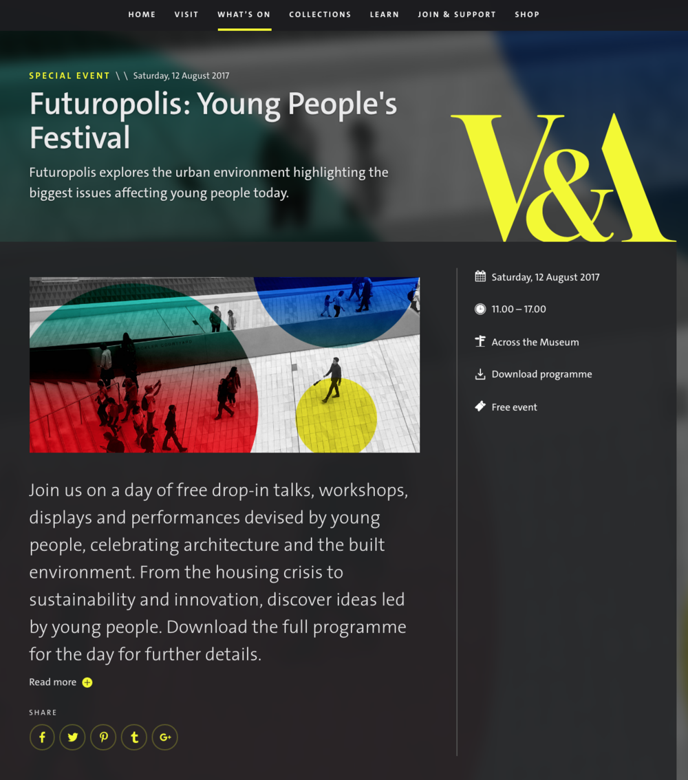 Friday Late Project:V&A Museum