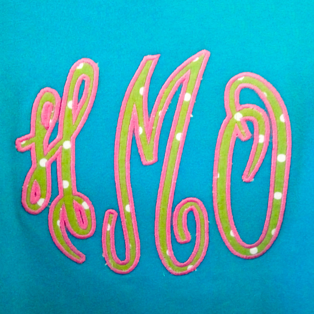 Grand Monogram Applique Satin