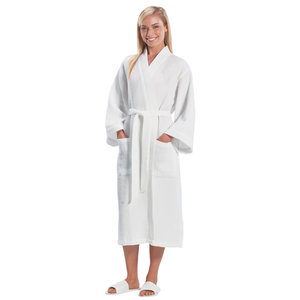 Full Length Waffle Weave Robe — Atlantic Embroidery Works ff71b7144