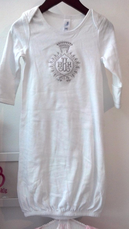 Long Sleeve Sleep Gown — Monogramming Studio by atlantic embroidery ...