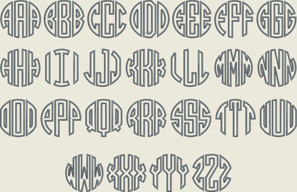 Circle Mono Applique Font Board.JPG