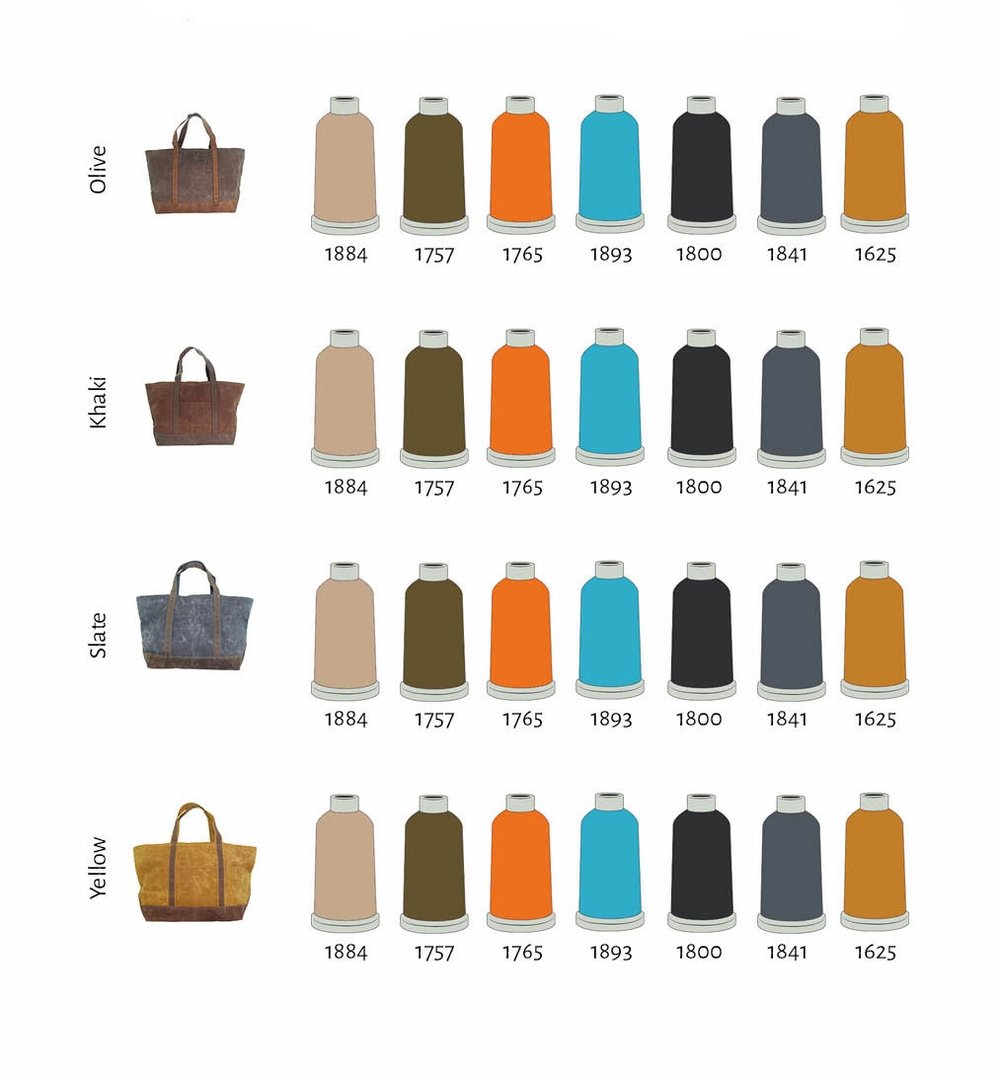 Recommended Thread Colors Wax Canvas Boat Totes.jpg