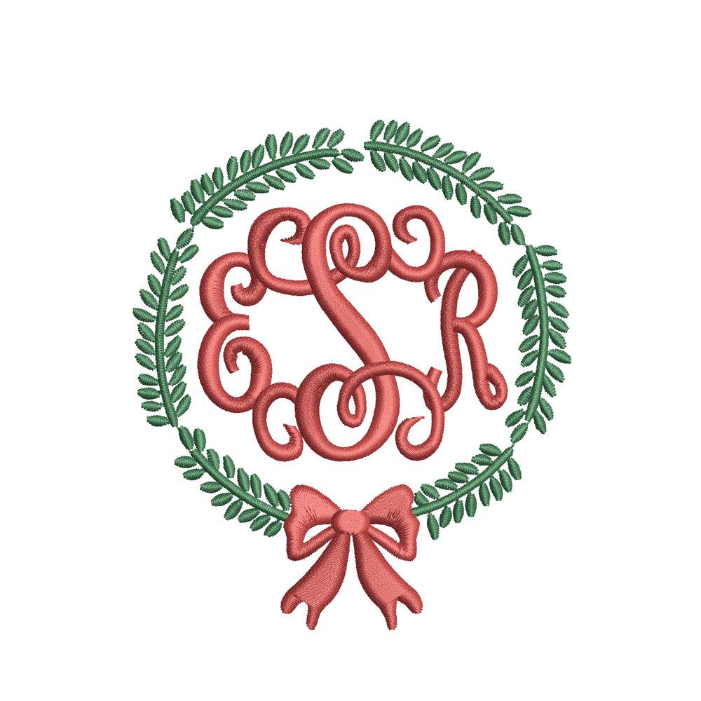 Wreath Mono (for white shirts)