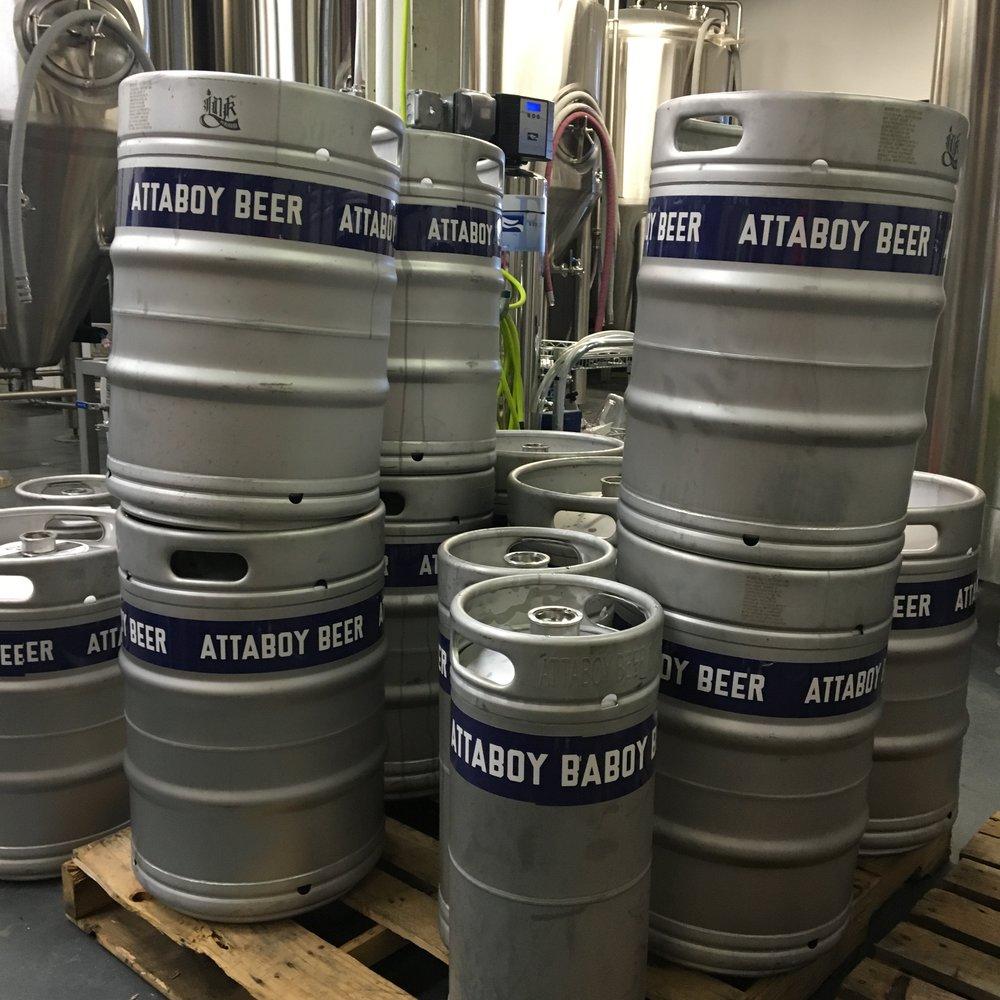 Attaboy Beer kegs