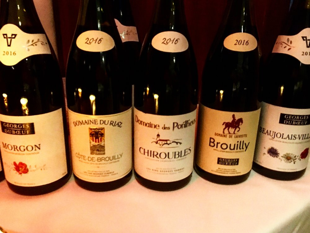 A wide range of 2016 Beaujolais from Les Vins Georges Duboeuf.