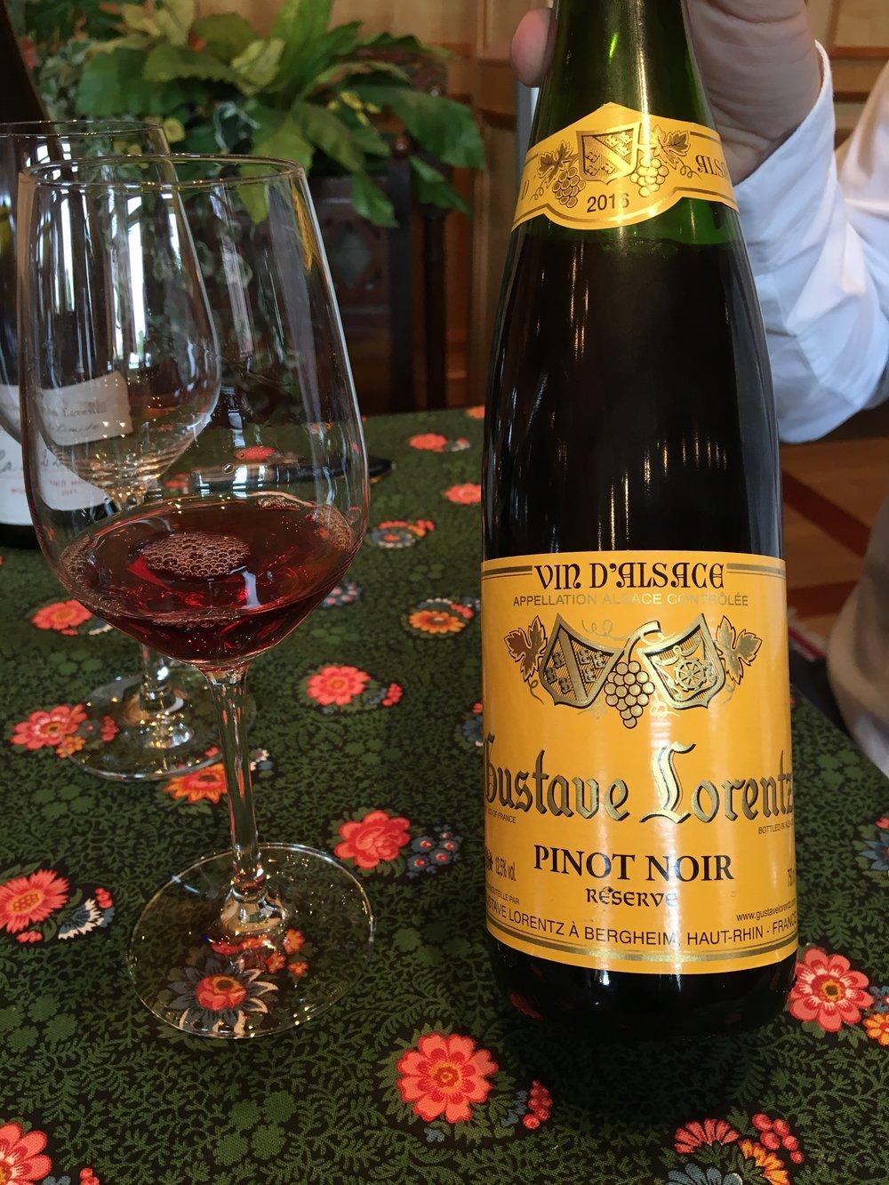Kết quả hình ảnh cho Gustave Lorentz Pinot Noir Alsace