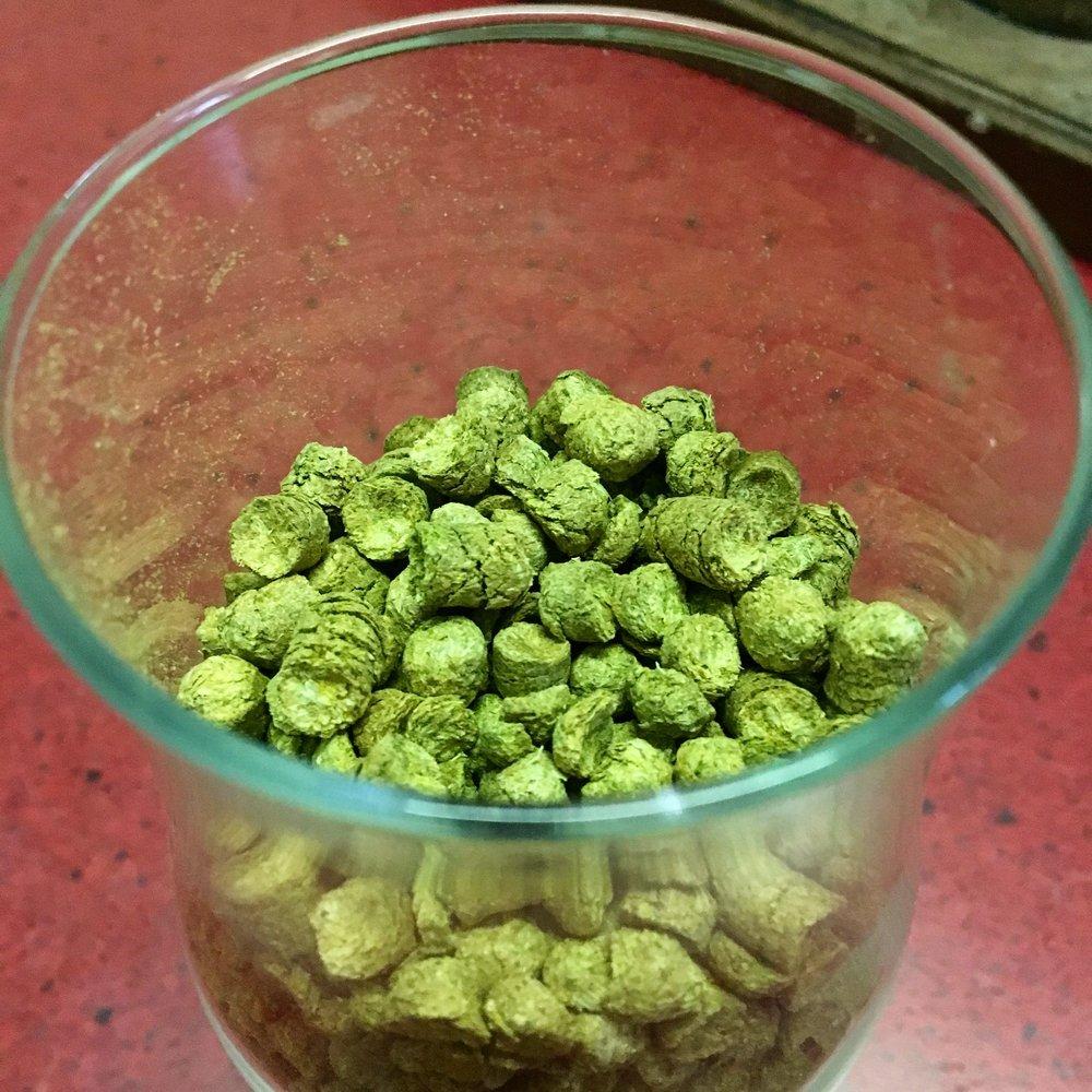 Hop pellets