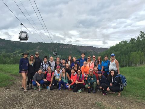 Leading 'Goals on the Rocks' hike at Wanderlust Festival Aspen-Snowmass!