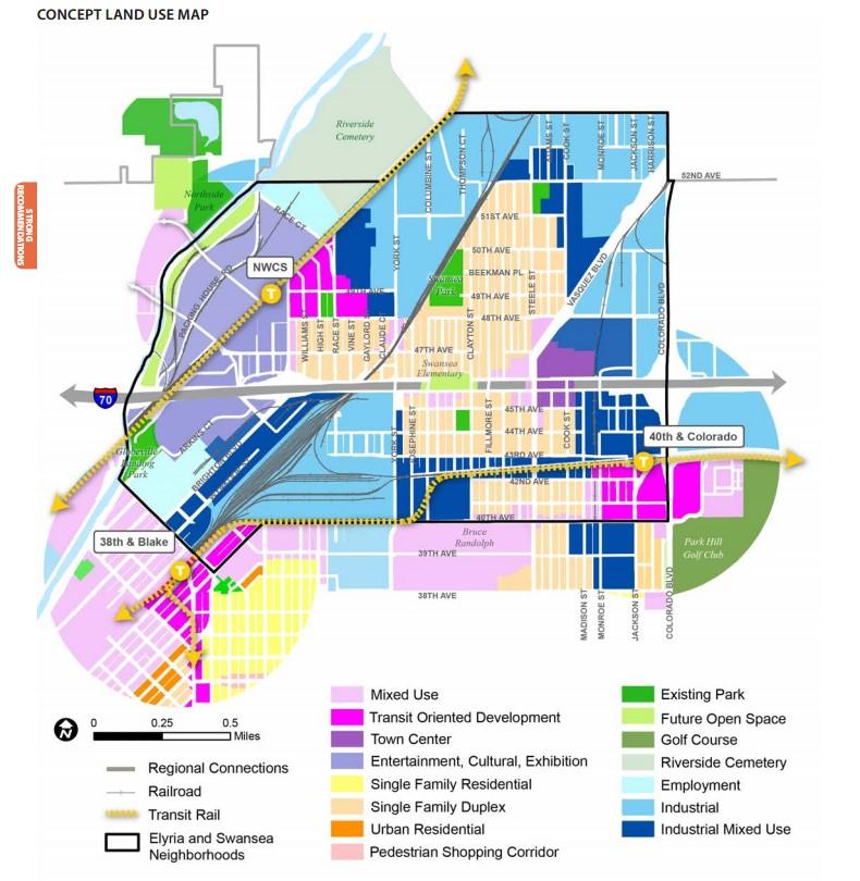 "City and County of Denver. ""ELYRIA & SWANSEA NEIGHBORHOODS PLAN."" Feb 2015. PDF. https://www.denvergov.org/content/dam/denvergov/Portals/646/documents/planning/Plans/Elyria_Swansea_Neighborhood_Plan.pdf [Downloaded on 23 Apr 2016]"
