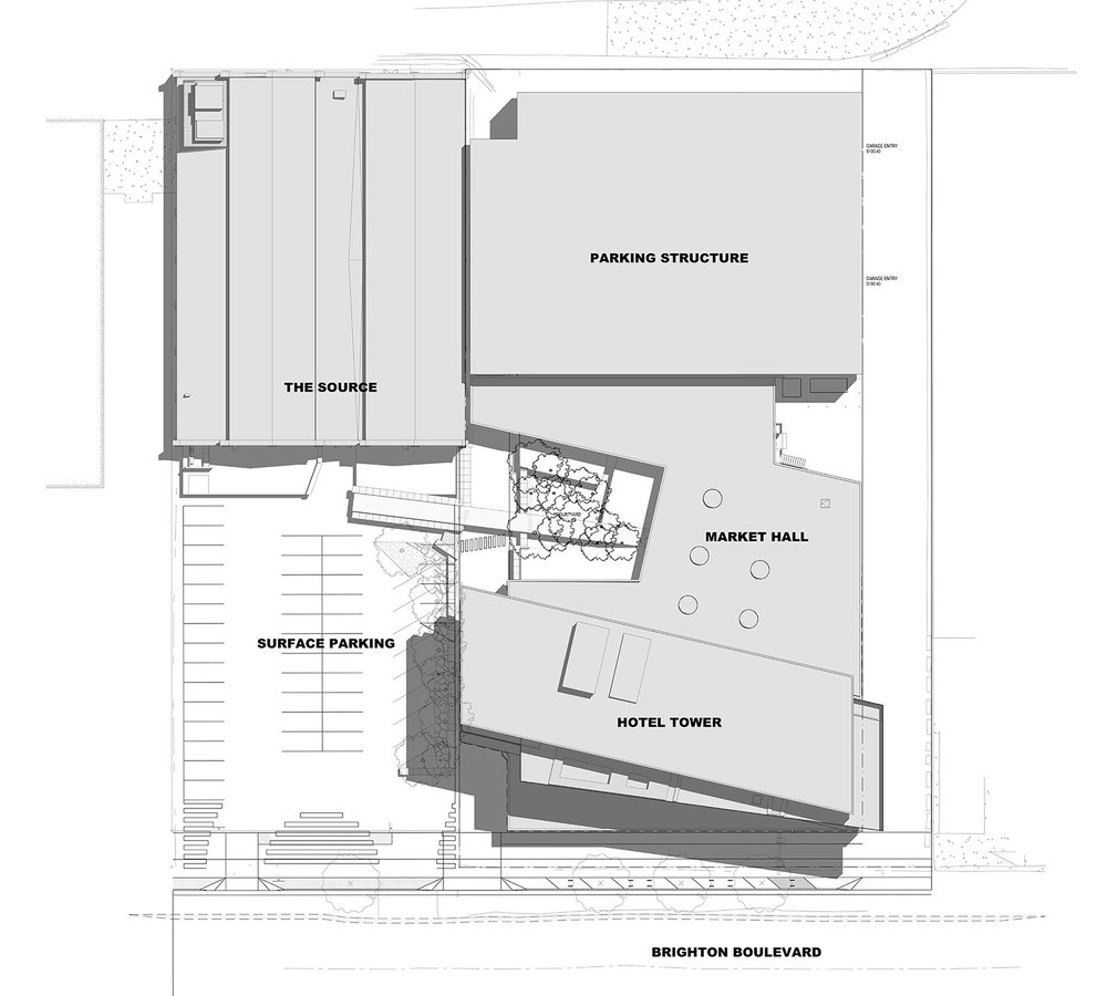 The Source Hotel + Market Site Plan