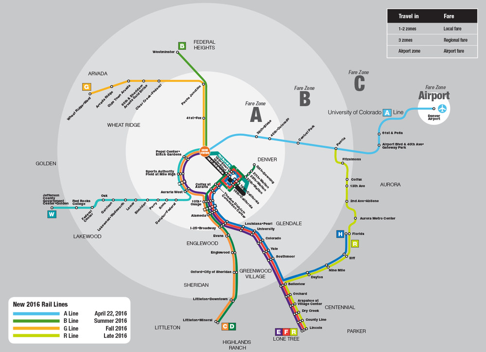 2016 Light Rail Fare Map
