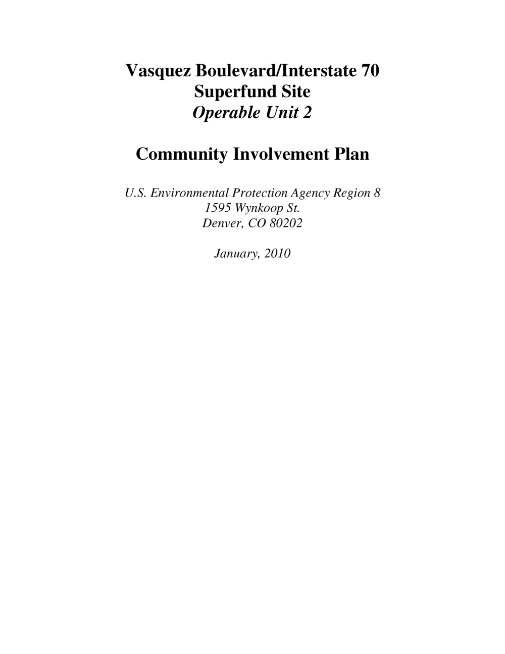 Superfund Community Involvement