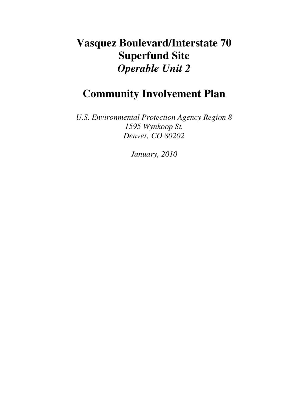 Superfund Community Involvement