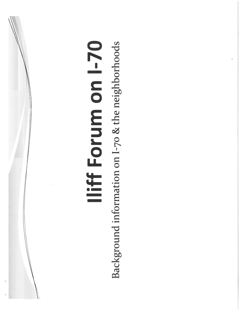 Iliff Forum on i-70
