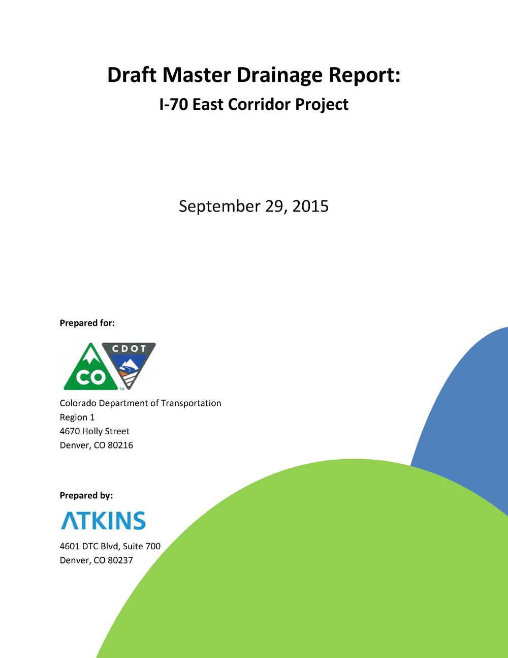 Master Drainage Report, Draft