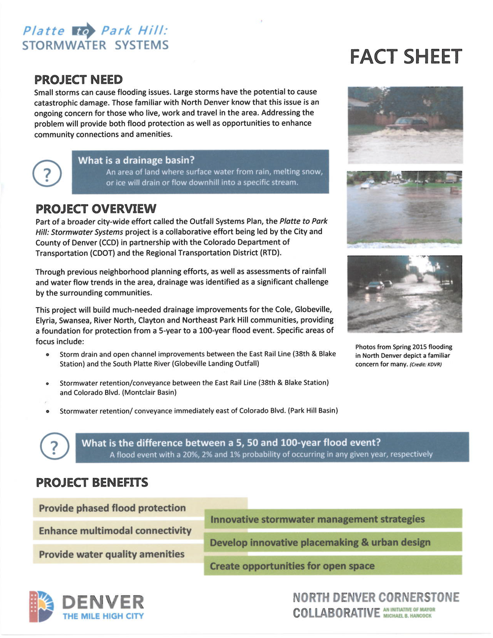 Stormwater Systems Fact Sheet