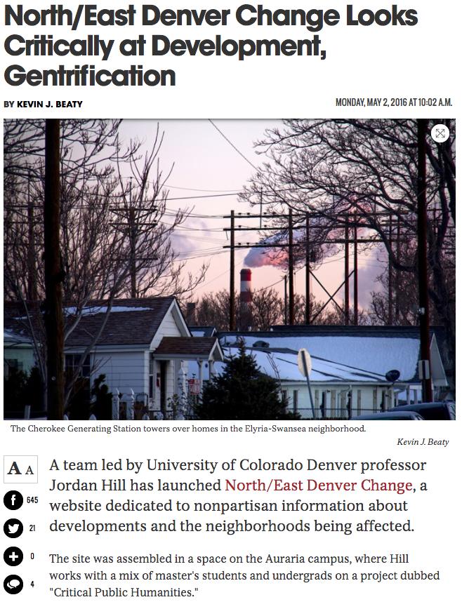 North/East Denver Change looks Critically at Development, Gentrification