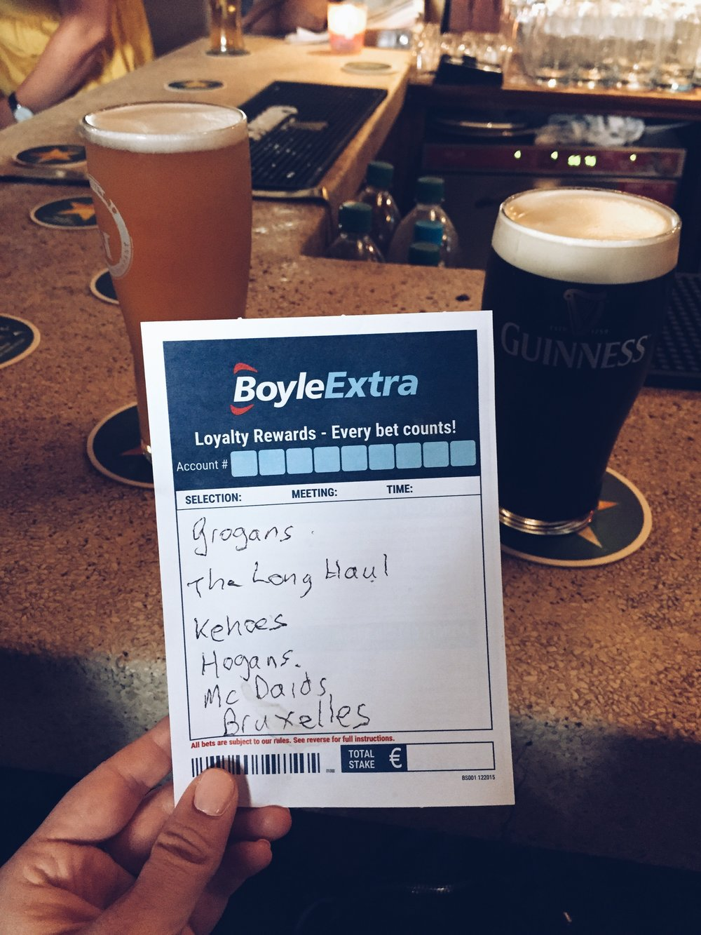 Dublin bars recommended by Sean