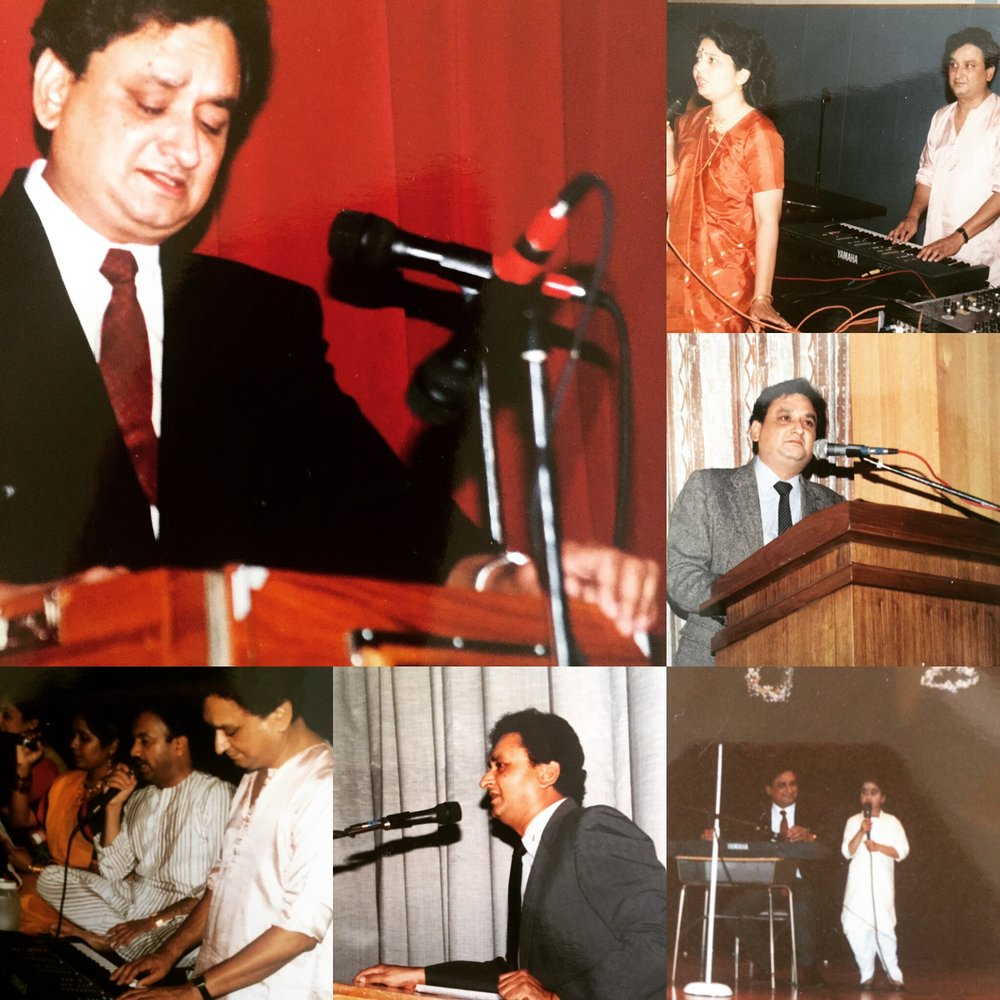 My Dad as a Leader (yes, that's 3-year-old me with a microphone on stage in the bottom right)