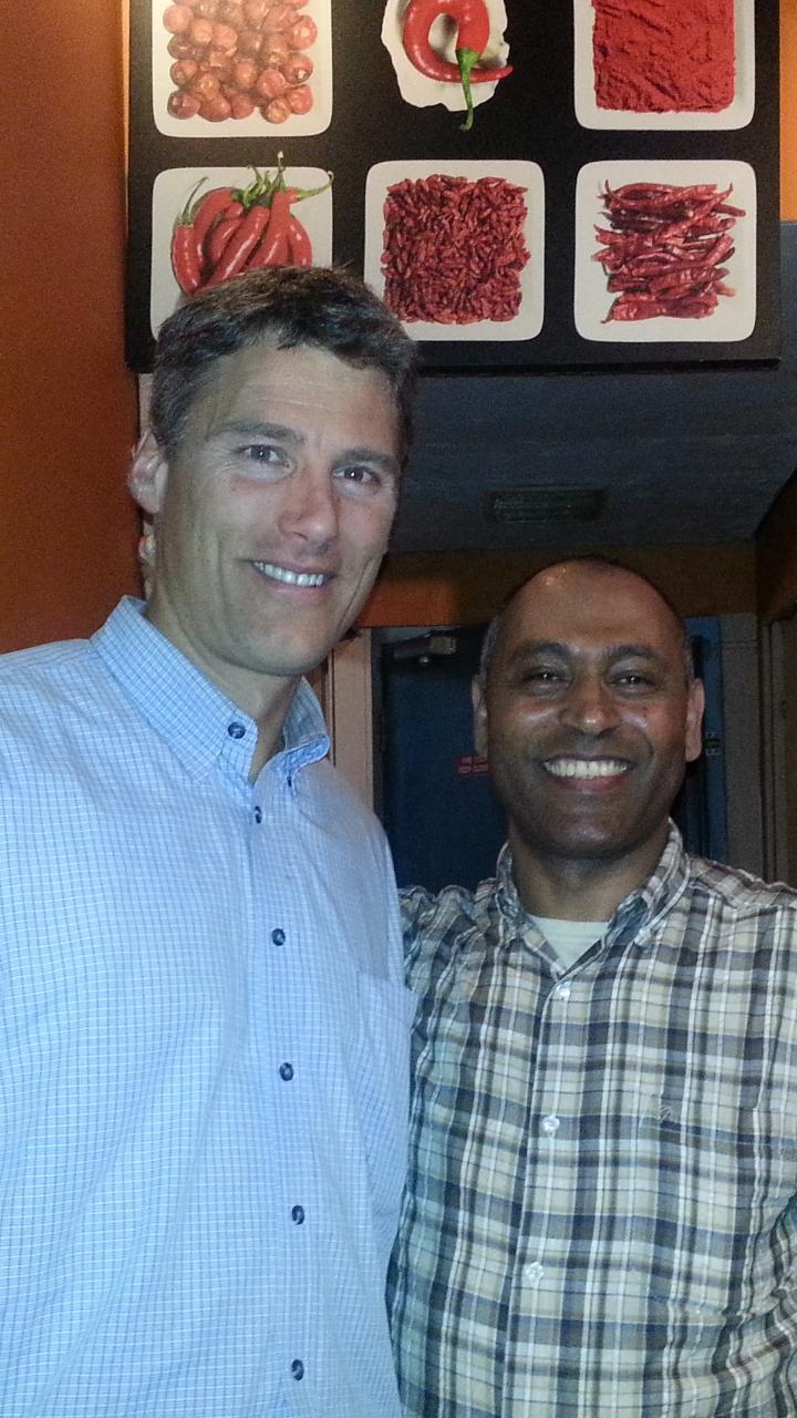 Vancouver Mayor Mr. Gregor Robertson at Addis Cafe