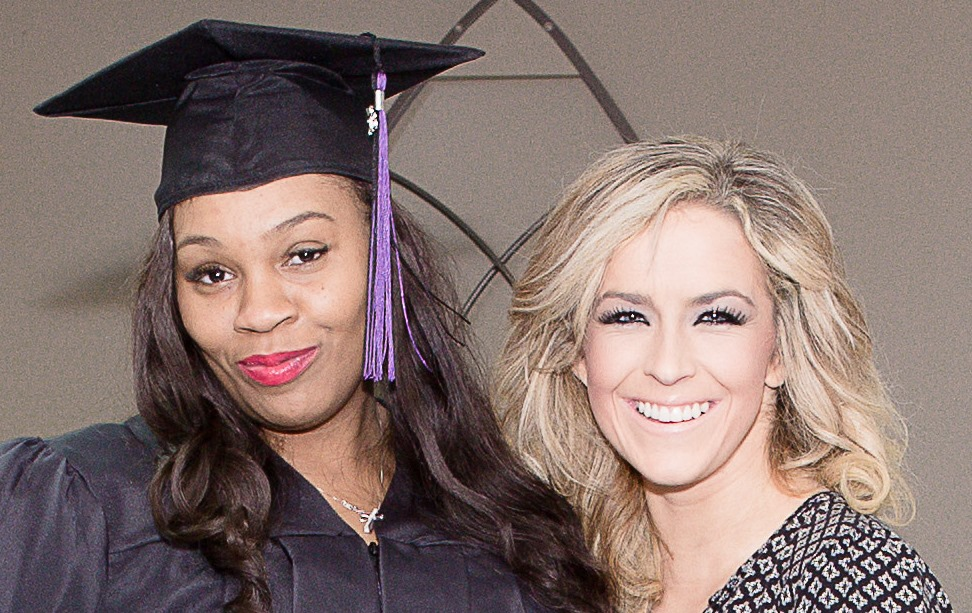 Laquesha and Deanna at Begin Anew's 2017 Winter Graduation