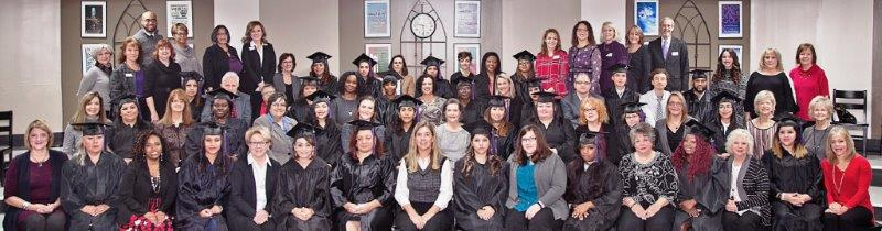 Winter 2017 graduates, mentors and staff