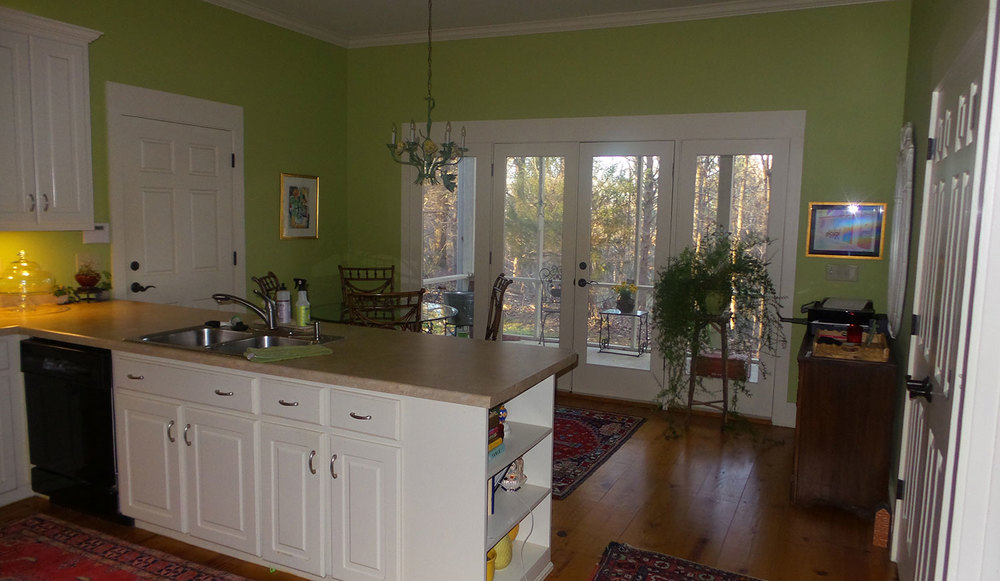 Great cooks kitchen with wooded view