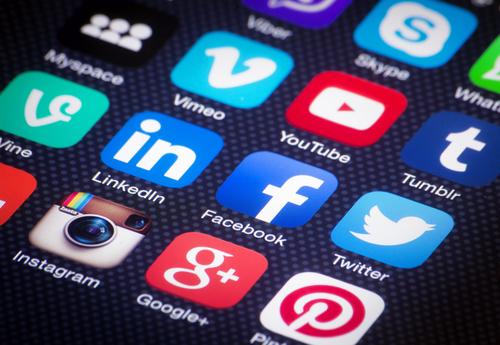 Popular social media apps.