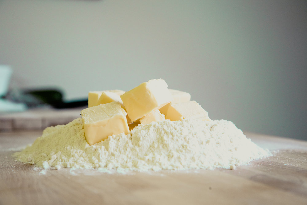 Butter and flour on cutting board. Photo by Markus Spiske
