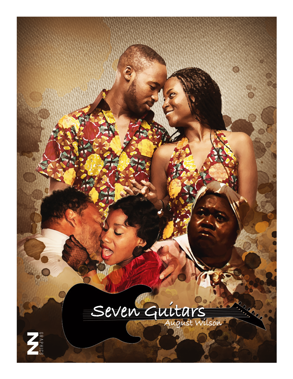 Seven Guitars  by August Wilson. This was done in tribute to August Wilson and his portrayal of woman through the book  Seven Guitars    .