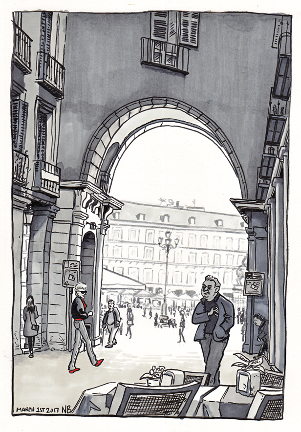 View of Plaza Mayor (20x30cm, framed) 160€