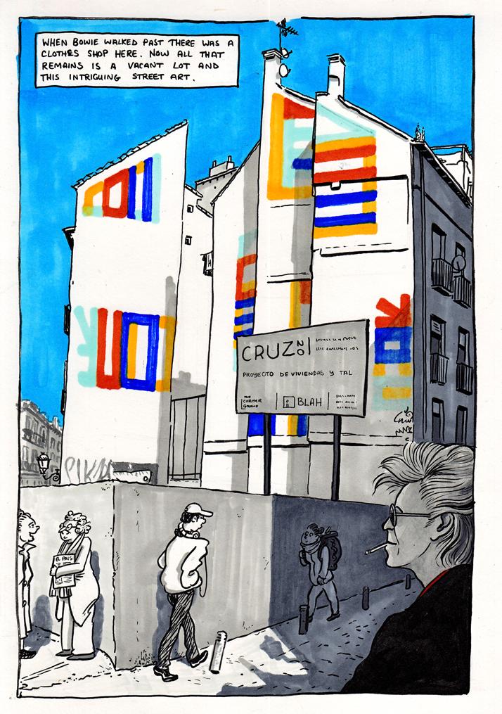 Calle de la Cruz (21x30cm, framed) 160€