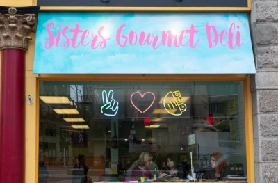 Sisters Gourmet Deli Window
