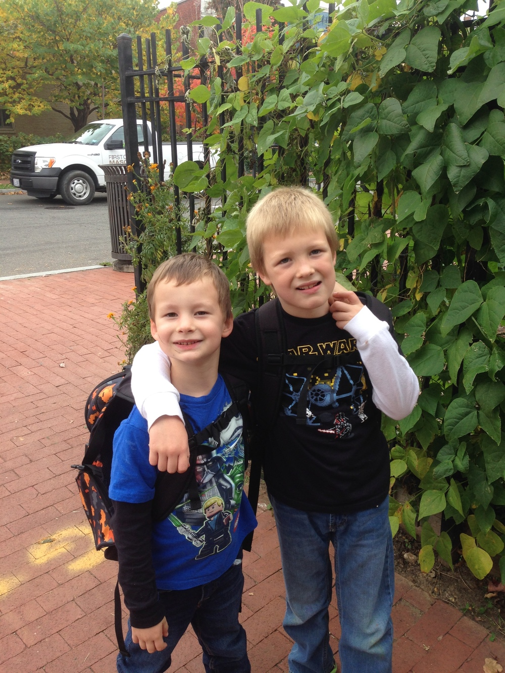 Grandsons Hudson and Harvey