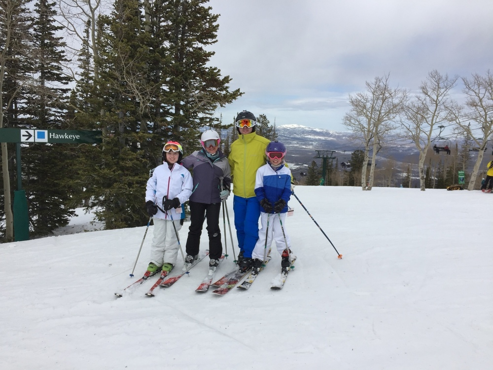 Mike's family skiing!