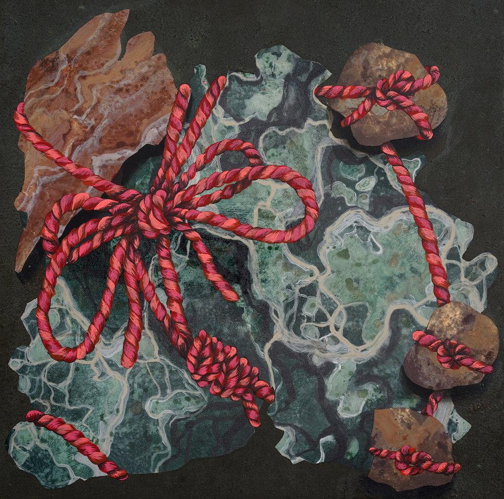 Rock Gift  2016  acrylic, polycrylic