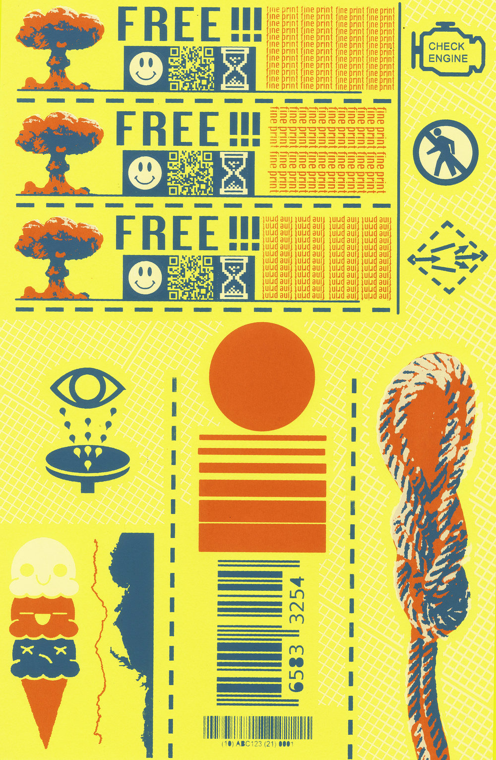 Coupon Sheet  2017  screen print